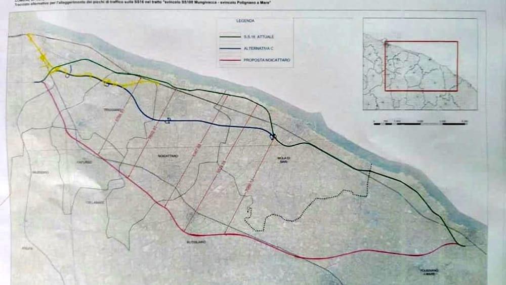 Il nodo della Statale 16, primo sì alla variante tra Bari e Mola: nuovo tracciato da oltre 17 km - BariToday
