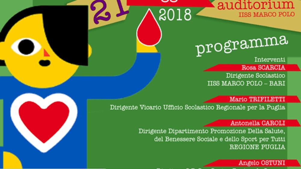 All Auditorium Dell Iiss Marco Polo Di Bari L Evento Tributo Ai Neo Donatori 21 Maggio 2018