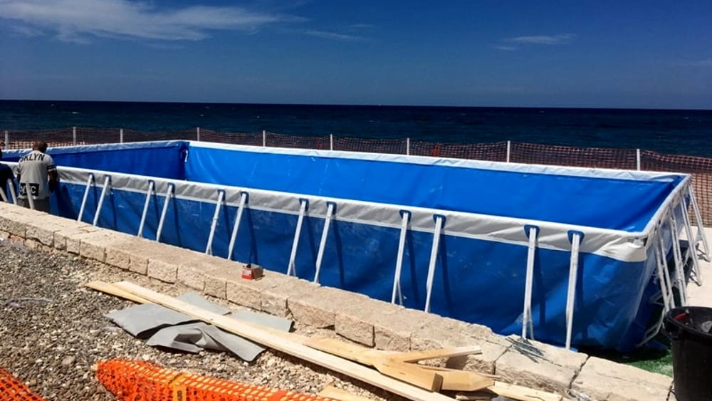 Torre quetta si prepara ad accogliere la nuova piscina e l for Nuova apertura grande arredo bari