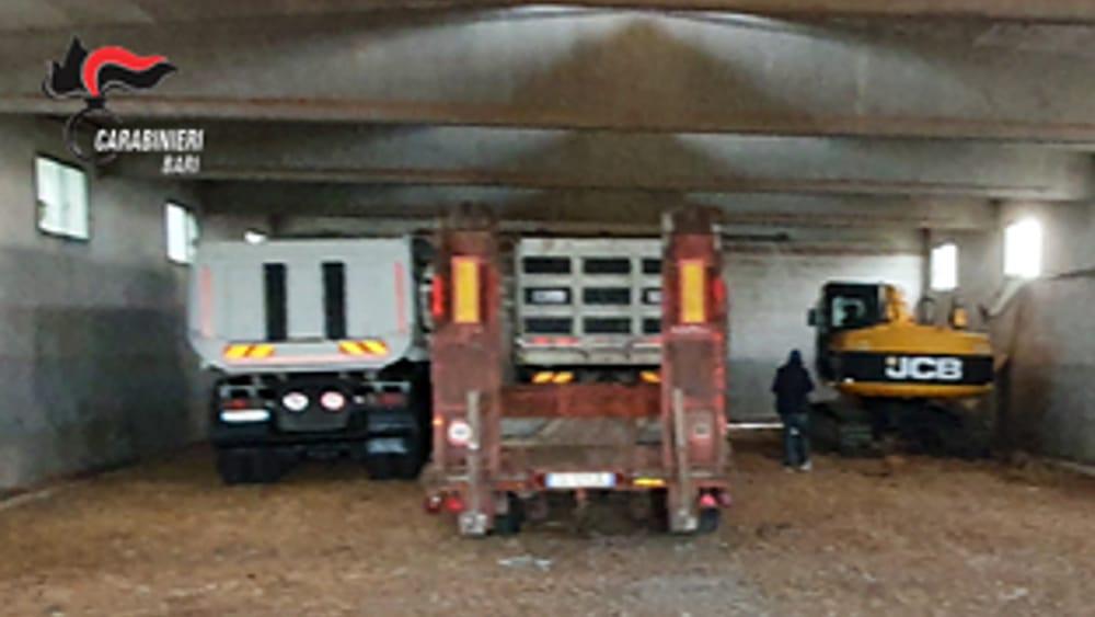 Nel capannone di un insospettabile i mezzi rubati a un imprenditore edile - BariToday